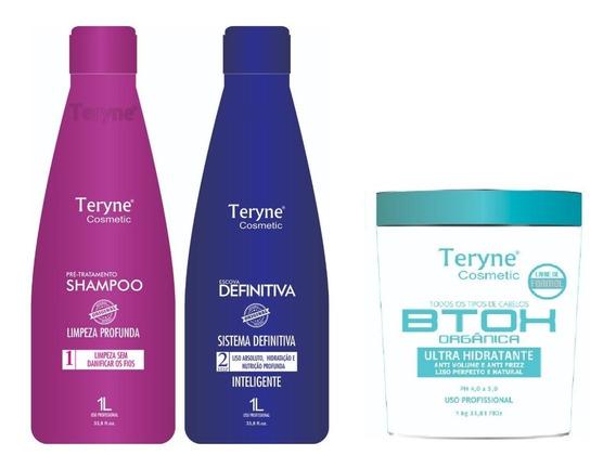 Kit Escova Definitiva Teryne Nova + Botox Orgânico 1kg
