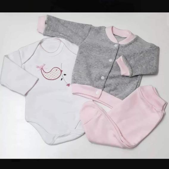 Kit Recién Nacido Camperita Body Y Pantalón Medio Osito