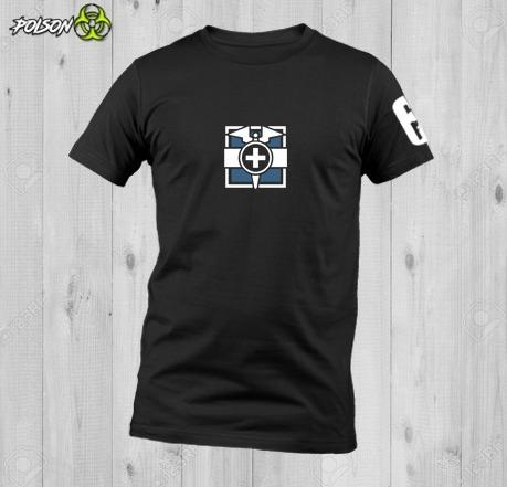 Playeras Dryfit Cuello Redondo Rainbow Six Siege Doc Logo