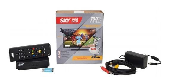 Receptor Sky Pré Pago Flex Sd + Não E Livre + Tv Smart Tubo