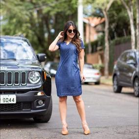 Vestido Jeans, Vestido Evangélico Jeans Midi, Vestidos