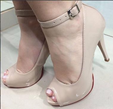 b758dcee88 Peep Toe Sapato Feminino Sandália Meia Pata Calçado Nude Pé - R$ 69,90 em  Mercado Livre