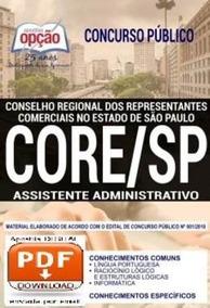 Apostila Concurso Core Sp 2018 Completa ! Envio Na Hora !