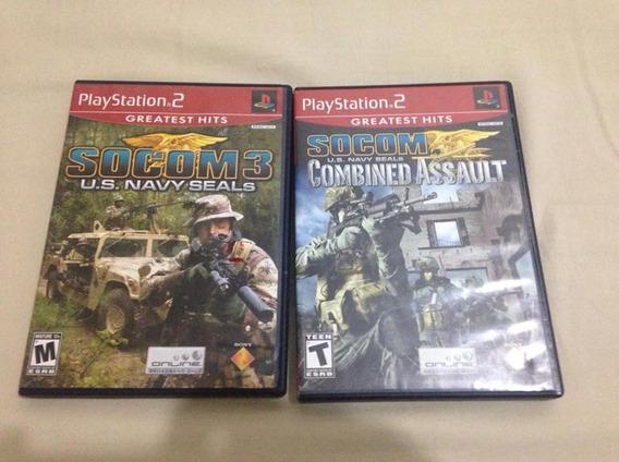 Jogos Ps2 Socom 3 E Socom Combined Assault Frete Gratis $170