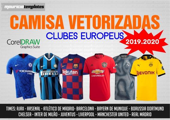 Camisa Vetorizadas - Clubes Europeus 2019.2020