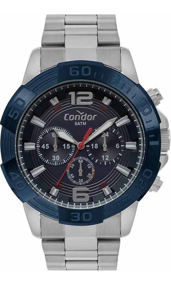 Relógio Condor Masculino Cronografo Covd54ba/3a Azul
