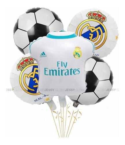 Set Globos Metalizado Real Madrid X5