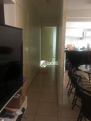 Apartamento Com 2 Dormitórios À Venda, 50 M² Por R$ 200.000 - Jardim Yolanda - São José Do Rio Preto/sp - Ap1777