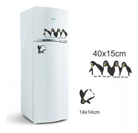 Adesivo Para Geladeira Pinguim Decorativo Cozinha