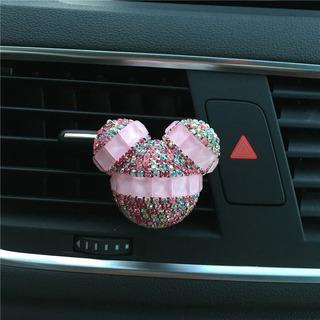 1 Aromatizador Cheirinho P/ Carro Mickey Disney Com Strass