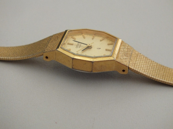 Relógio Citizen Feminino Dourado Antigo