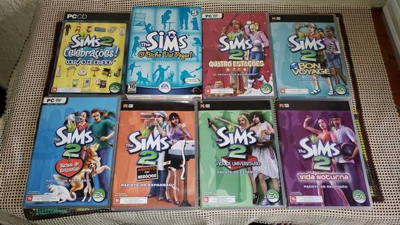 Coleção De Jogos De Pc The Sims 2 Pacotes De Expansão Voyage