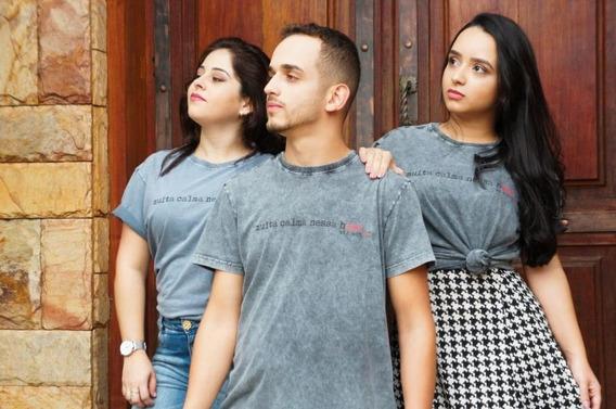 Camisa Gospel Cinza Evangélica Moda Evangélica Com Frase