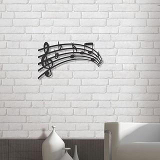 Escultura De Parede Em Mdf, Música Partitura 50x30cm