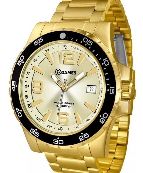 Relógio Xgames Masculino Analógico Dourado Xmgs1027c2kx