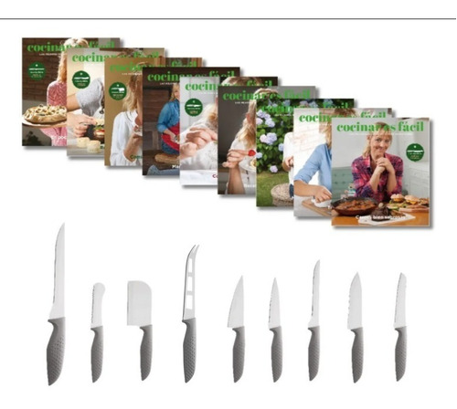 Clarín Colección Cocina Fácil Set 2 De 9 Cuchillos