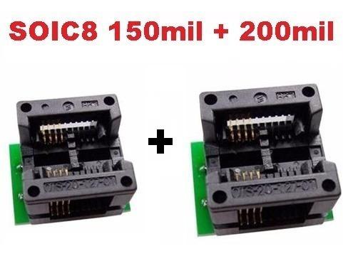 Kit 2 Adaptadores Soic8 Sop8 Para Dip8 Eprom 150mil E 200mil