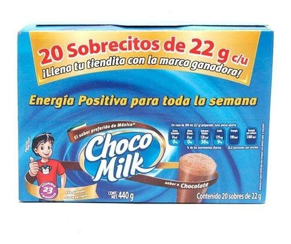 Chocomilk Exhibidor Con 20 Cajas De 20 Piezas De 22 Grs