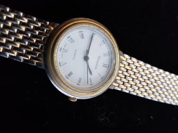 Relógio Simplon Japão Original Dourado