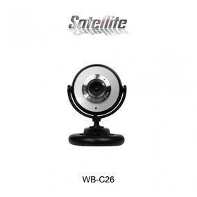 Webcam Satellite Wb-c26 Preto/prata C/ Microfone Lacrada