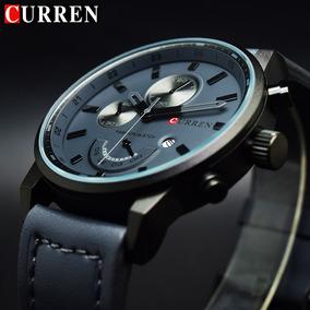 Relógio Masculino Esportivo Original Luxo Curren Aço Inox