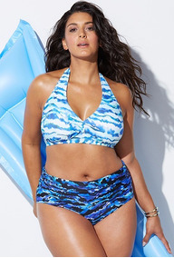 Biquíni Feminino Plus Size Lançamento Verão Estampado Y36