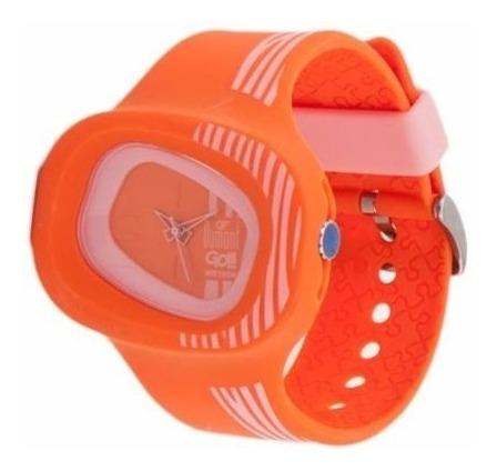 Relógio Fem. Analógico Dumont Gol Wr100m Laranja Original