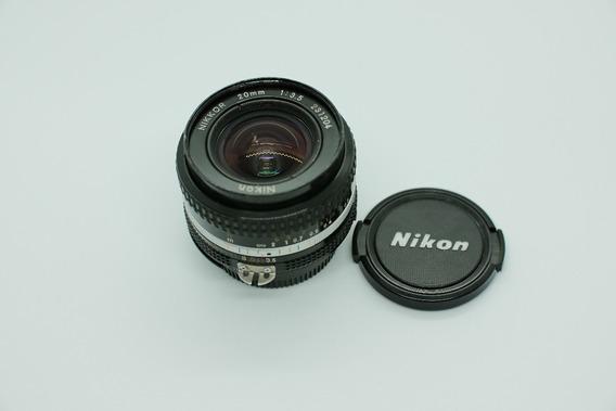 Lente Nikon Ais 20mm 3.5 - Extremamente Nítida - Full Frame