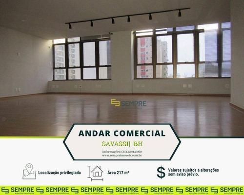 Imagem 1 de 22 de Andar Corporativo Pronto Para Locação, 217 M² - Savassi - Belo Horizonte/mg - Ac0110