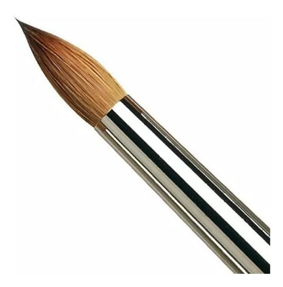 Pincel Para Uñas Esculpidas Acrílicas Pelo Kolinsky N 8