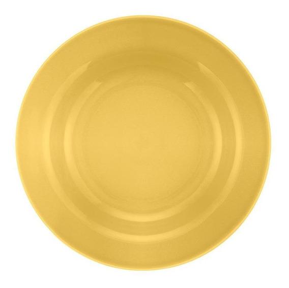 Conjunto De 6 Pratos Fundos 21cm Donna Amarelo