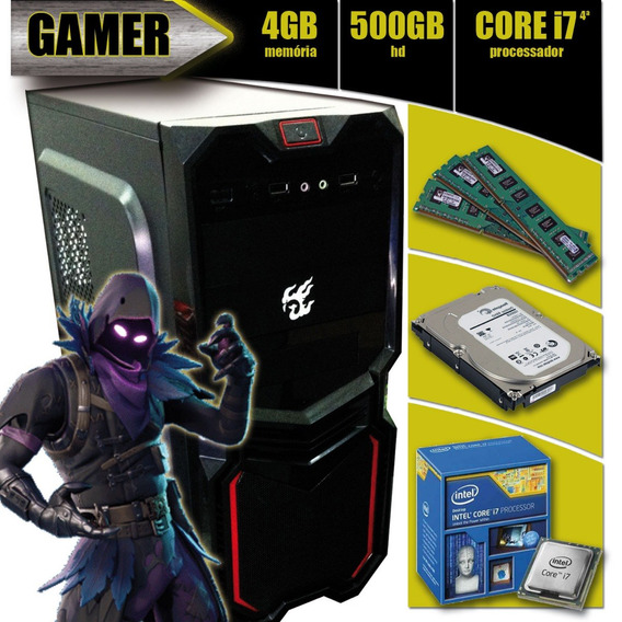 Pc Gamer I7-4790 + 4gb + 500gb + Asus H81m-cs