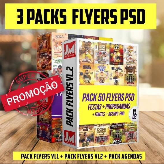 Pack Flyers/banners Para Shows Psd 100% Editaveis Promoção