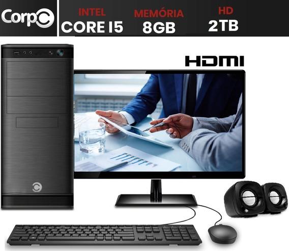 Computador Pc Cpu Completo Intel Core I5 8gb 2tb Monitor 19