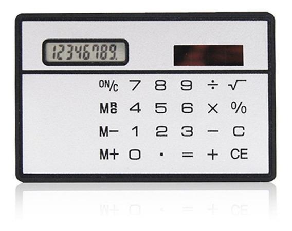 Calculadora Energia Solar Ultra Fina 8 Dígitos - Prata