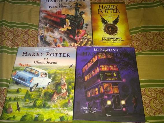 Livro Ilustrado Harry Potter 1, 2 E 3 + Criança Amaldiçoada