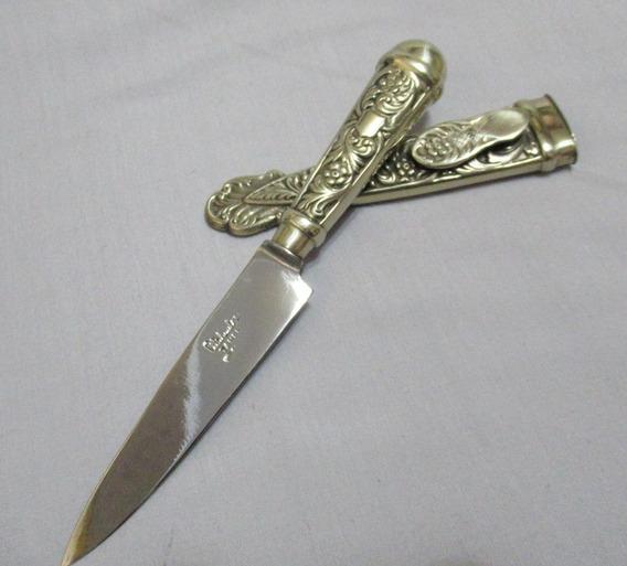 Cuchillo Facón Alpaca Acero Atahualpa Tandil Completo Vaina