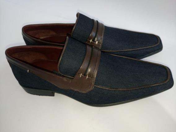 Sapato Masculino Gofer Monaco Jeans/cafe - Maanaim Calçados