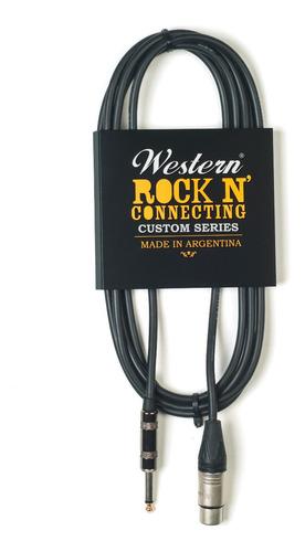 Cable Canon Plug De 6 Metros Western Cp60 Xlr-plug