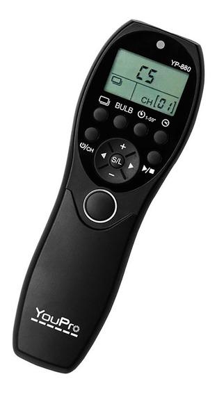 Controle Disparador Time Lapse C/fio Yp-880 E3 Canon #