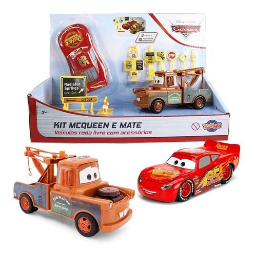 Kit Relampago Mcqueen E Ton Mate Com Acessórios Carros 3