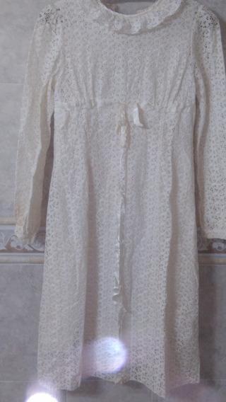 Vestido De Comunión, Usado, Año 1983