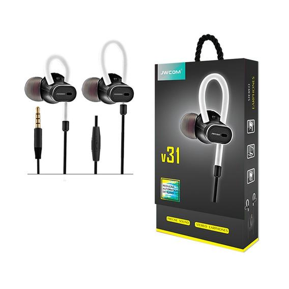 Fone De Ouvido Original Jwcom In Ear Fo-v31 Plug P2 Universa