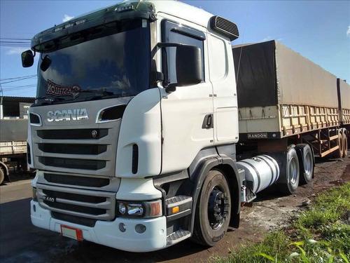 Scania R440 6x4 2012/12  Bi-trem Randon 2010 (financiado)