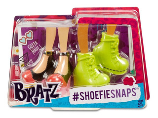 Bratz Shoefiesnaps Kit 2 Pares Zapatos De Muñeca En Stock