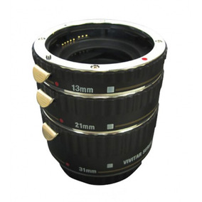 Três Tubos De Extensão P/ Câmera Dslr Canon Viv-extc