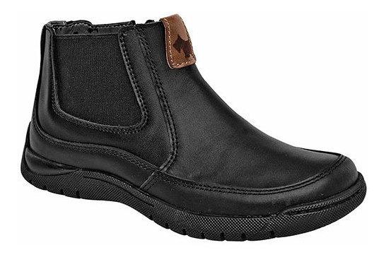 Sneaker Dep Escolar Caballero Ferrioni Negro Piel J89226 Udt