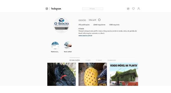 Vendo Perfil Do Instagram Com 23 Mil Seguidores, Mais O Blog Osocio.