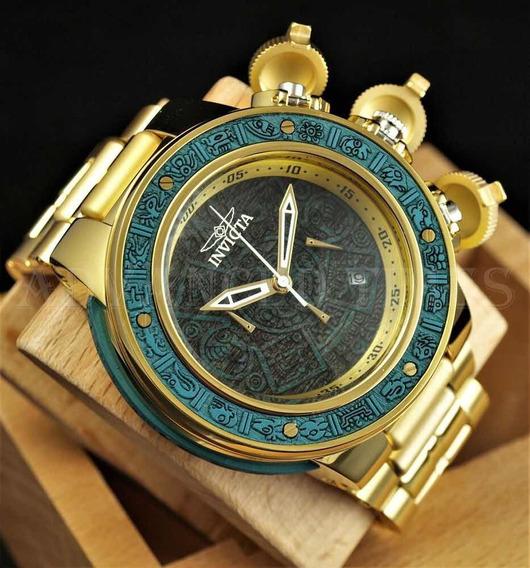 Relógio Invicta Subaqua Sea Dragon Aztec Green Wood 28254