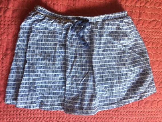 Falda Azul Con Blanco De Niña Old Navy Talla S (6-7)